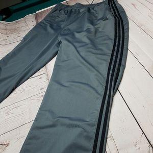 ADIDAS Men's 3 Stripe Track Pants XXL Gray/Black